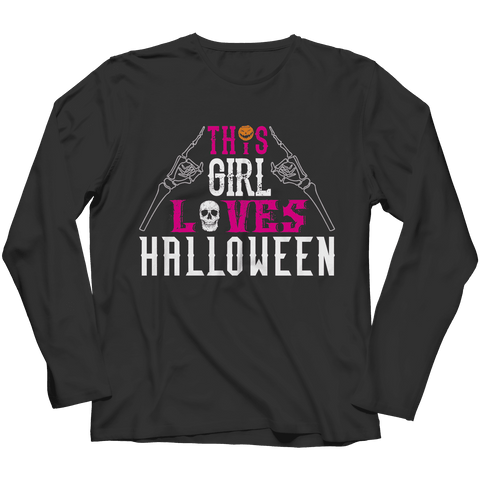 Image of This Girl Loves Halloween T Shirt