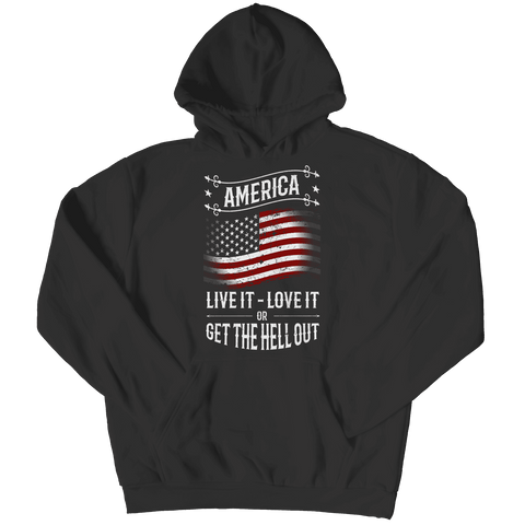 Image of America Live it Love it or Get the Hell Out T Shirt