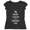 Keep Calm and Smoke On BBQ T Shirt