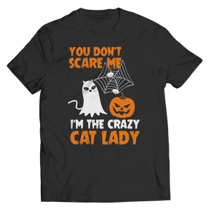 Crazy Cat Lady Halloween T Shirt