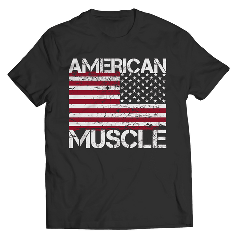 Image of American Muscle Flag T Shirt