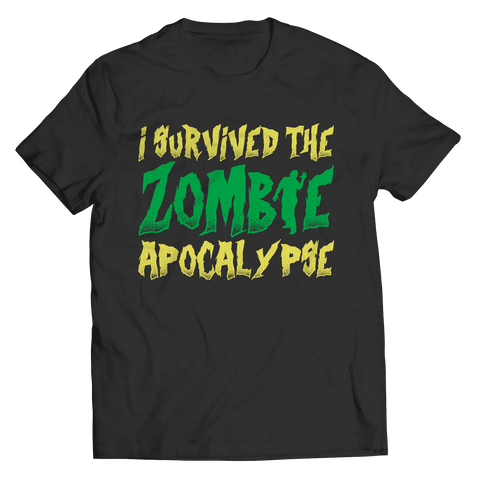 I Survived the Zombie Apocalypse Halloween T Shirt