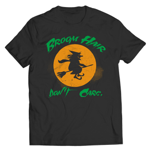 Broom Hair Don't Care Halloween T Shirt