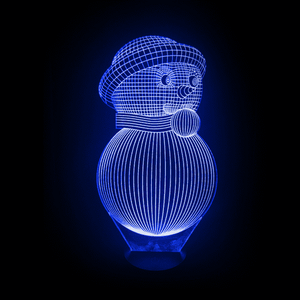 Snowman LED Lamp Changing Colors