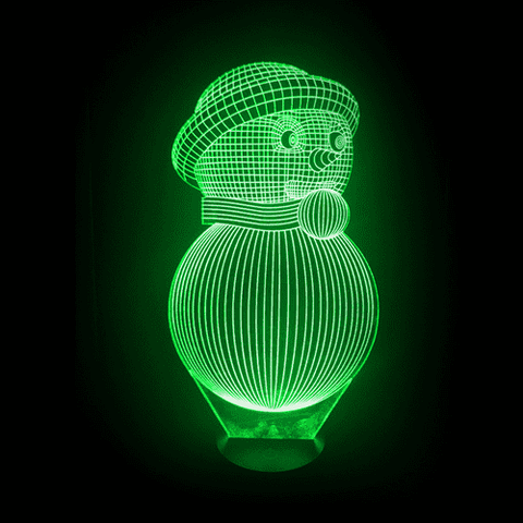 Image of Snowman LED Lamp Changing Colors