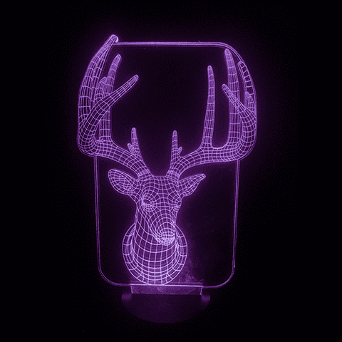 DEER LED Lamp Changing Colors