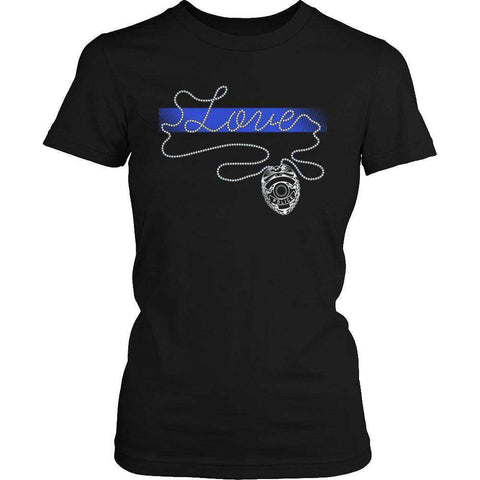 Image of Thin Blue Line Love T Shirt
