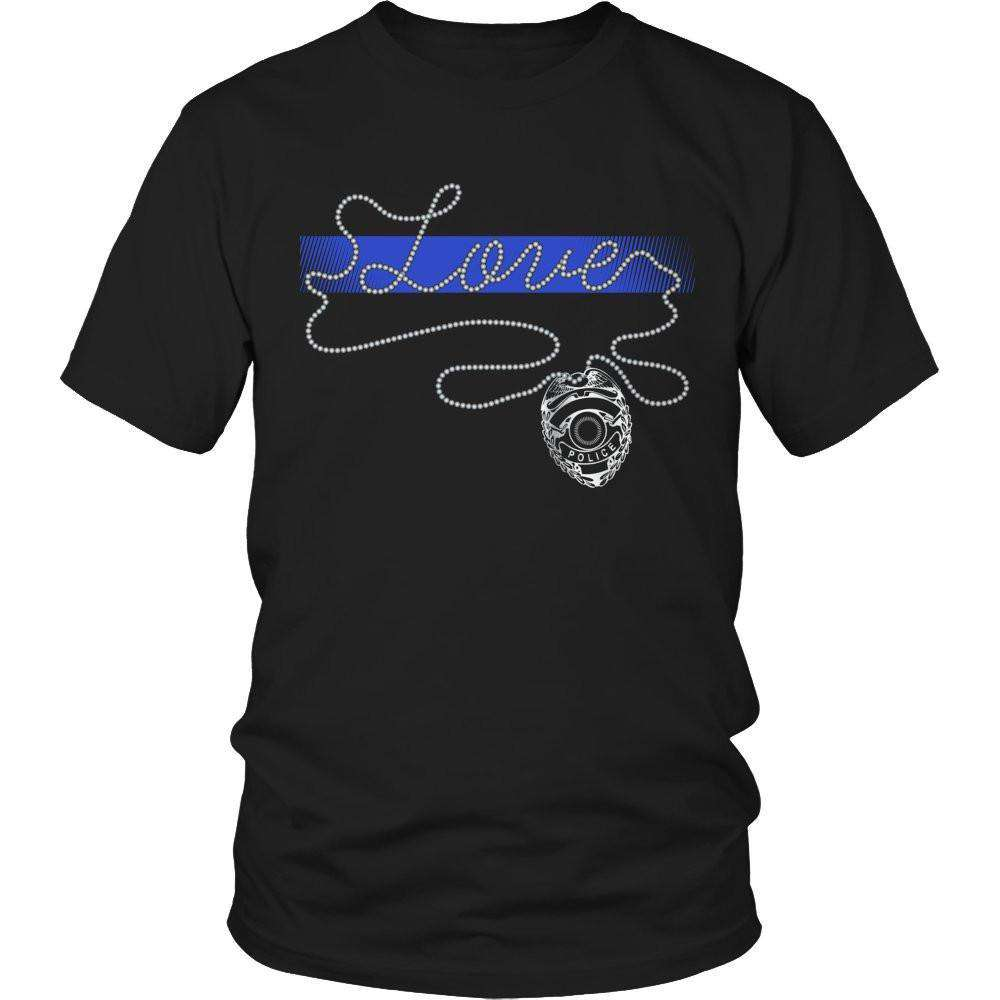 Thin Blue Line Love T Shirt