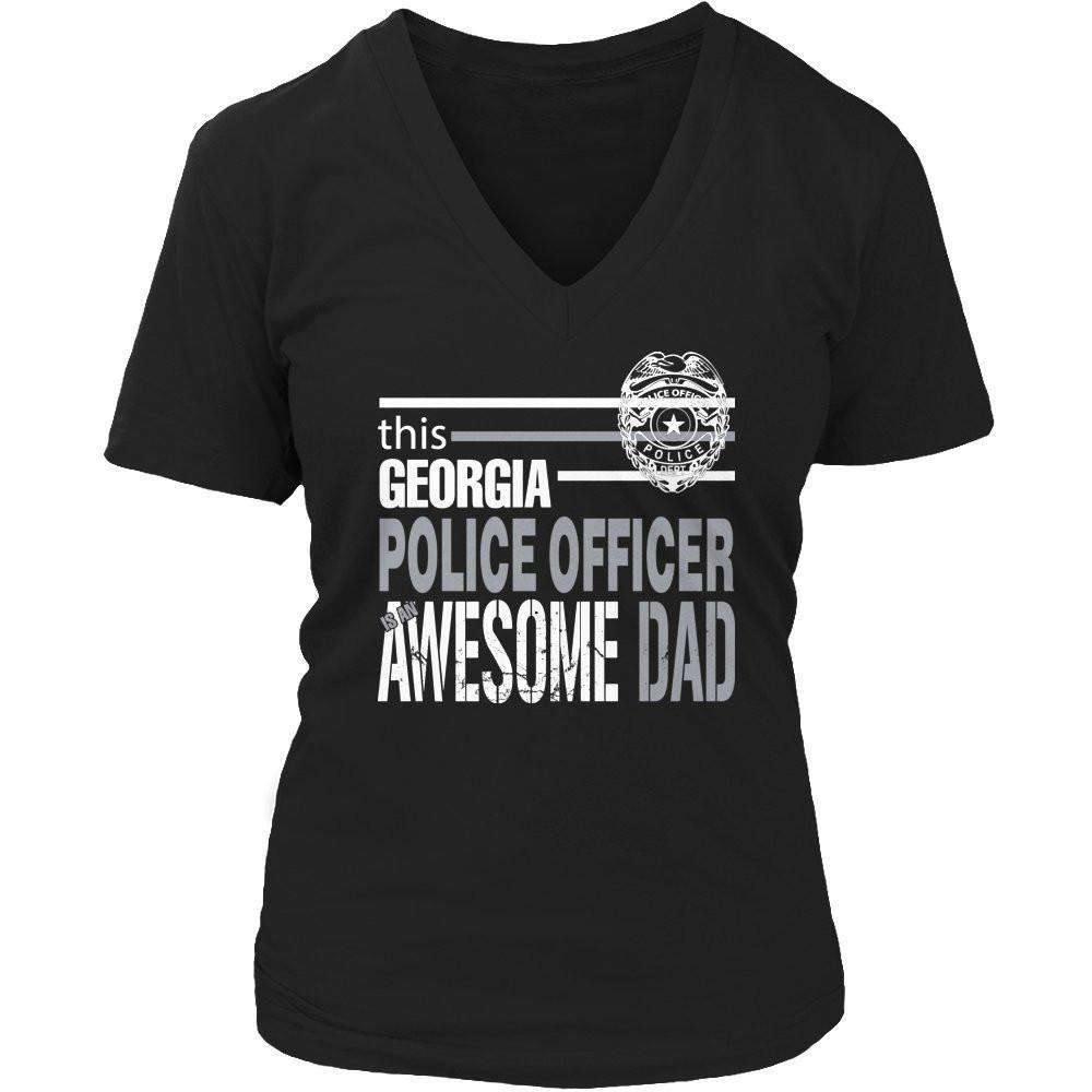 This Georgia Police Officer Is An Awesome Dad T Shirt
