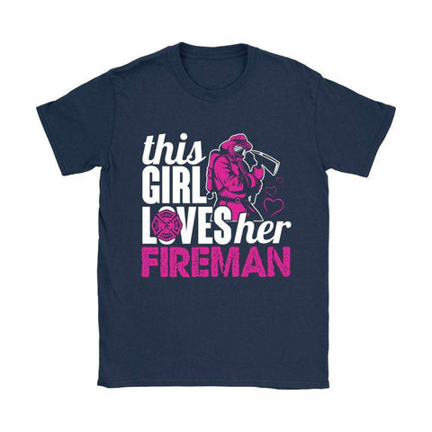 Image of THIS GIRL LOVES HER FIREMAN T SHIRT