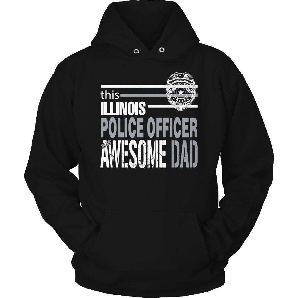 This Illinois Police Officer Is An Awesome Dad T Shirt