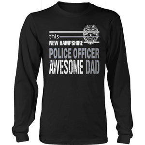 This New Hampshire Police Officer Is An Awesome Dad T Shirt