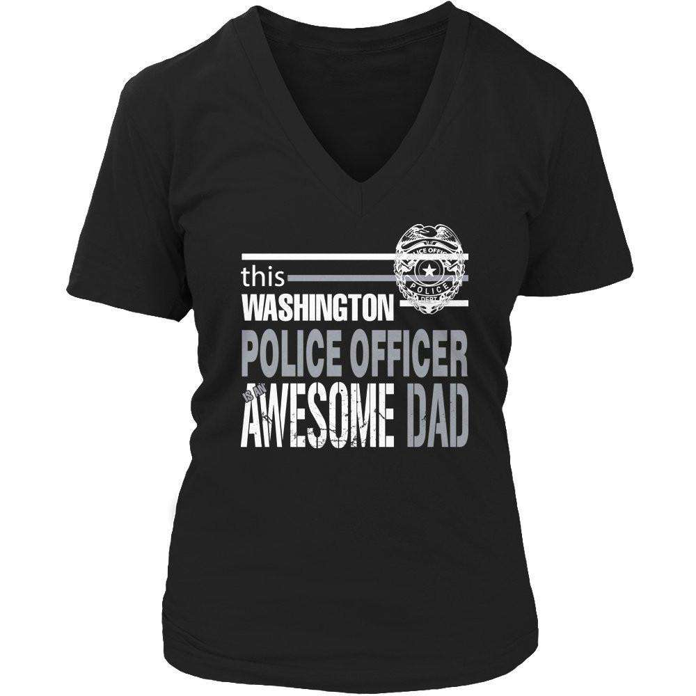 This Washington police officer is an awesome dad T Shirt
