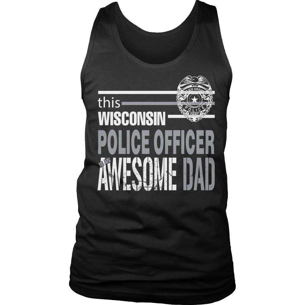 This Wisconsin police officer is an awesome dad T Shirt