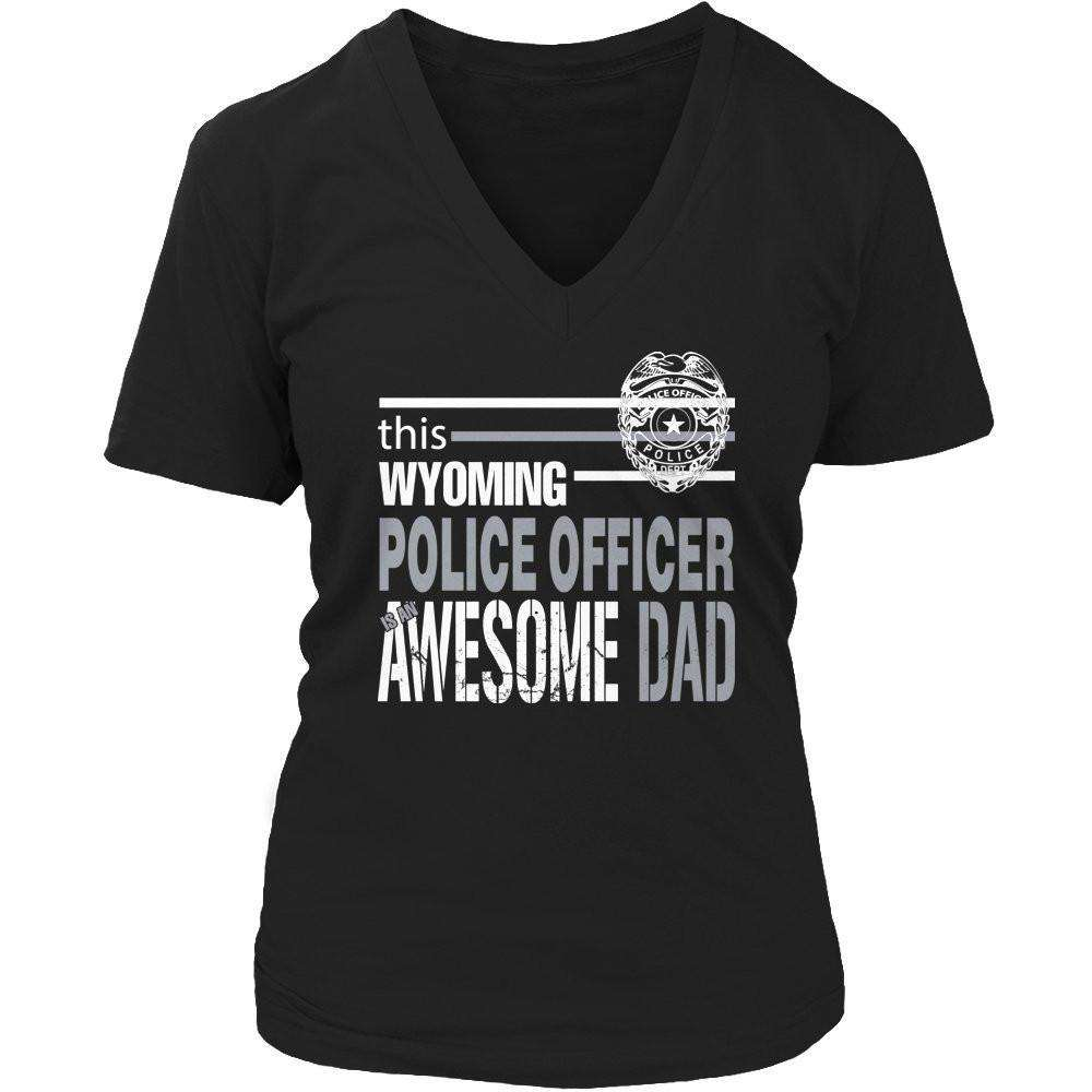This Wyoming police officer is an awesome dad T Shirt