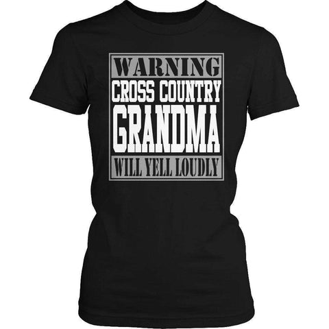 Image of Warning Cross Country Grandma will Yell Loudly T Shirt