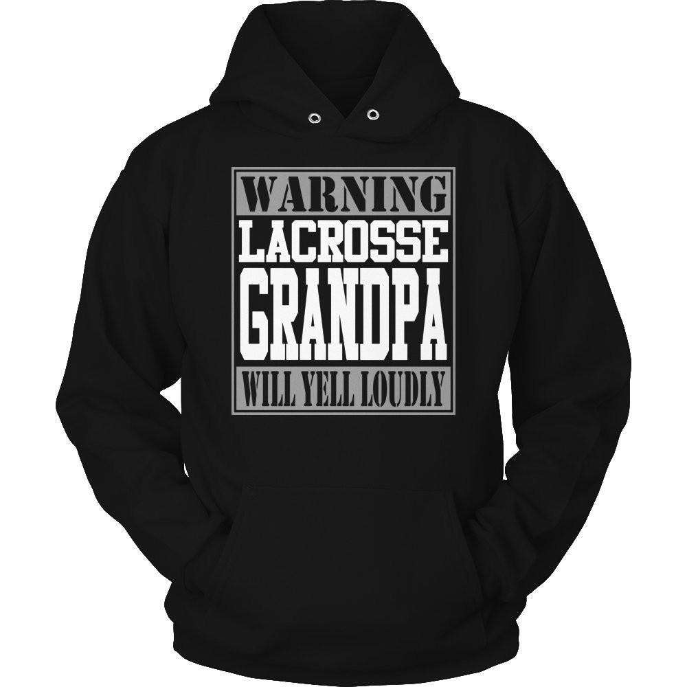 Warning Lacrosse Grandpa will Yell Loudly T Shirt