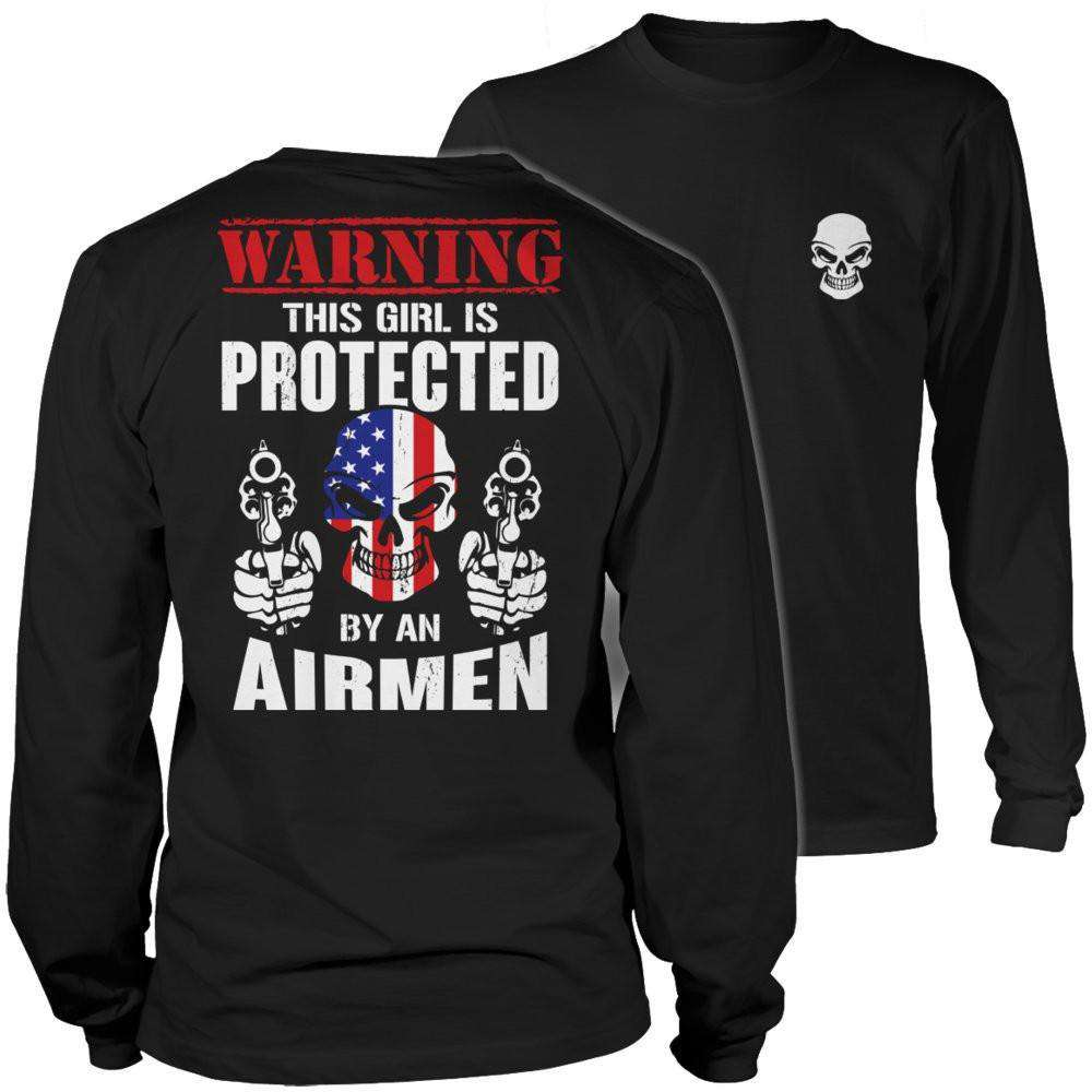 Warning This Girl is Protected by an Airmen T Shirt