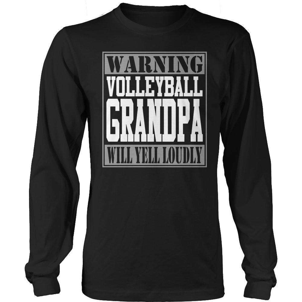 Warning Volleyball Grandpa will Yell Loudly T Shirt