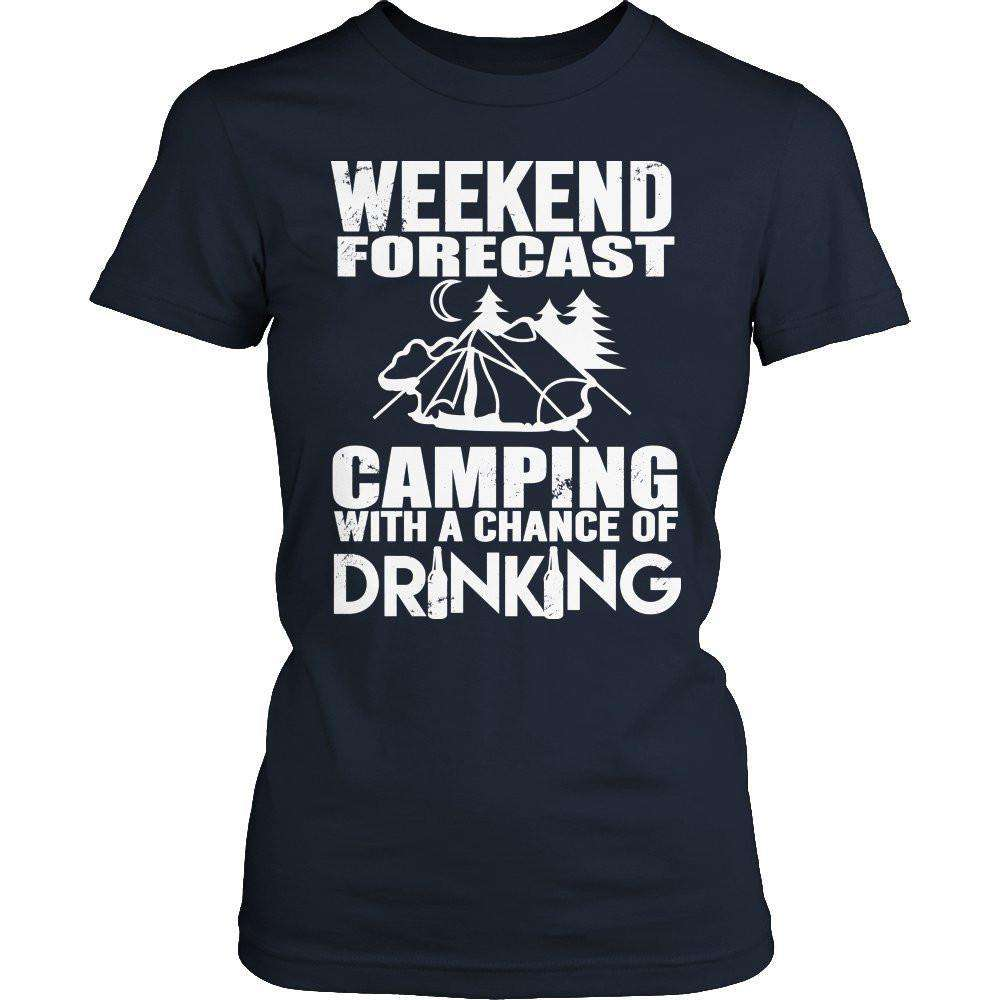Weekend Forecast Camping T Shirt