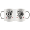 Side By Side Or Miles Apart Friends Will Always Be Connected By Heart Mug