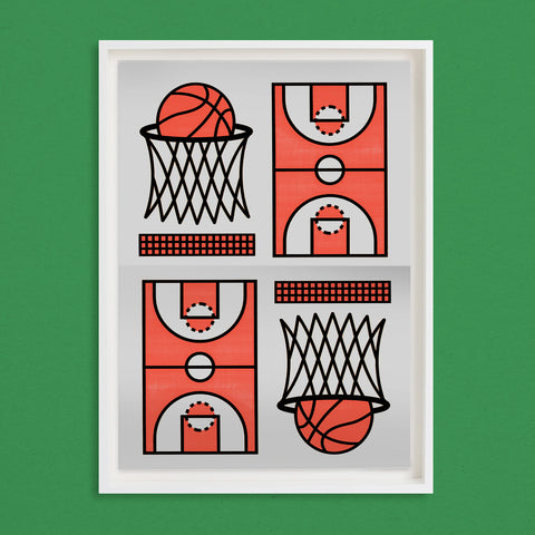 BASKET: DOUBLE DOWN PRINT