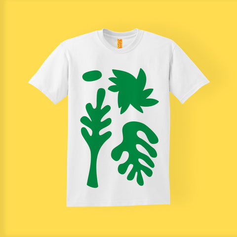 SCREEN PRINTED T-SHIRT | FOLIAGE | RISOTTO