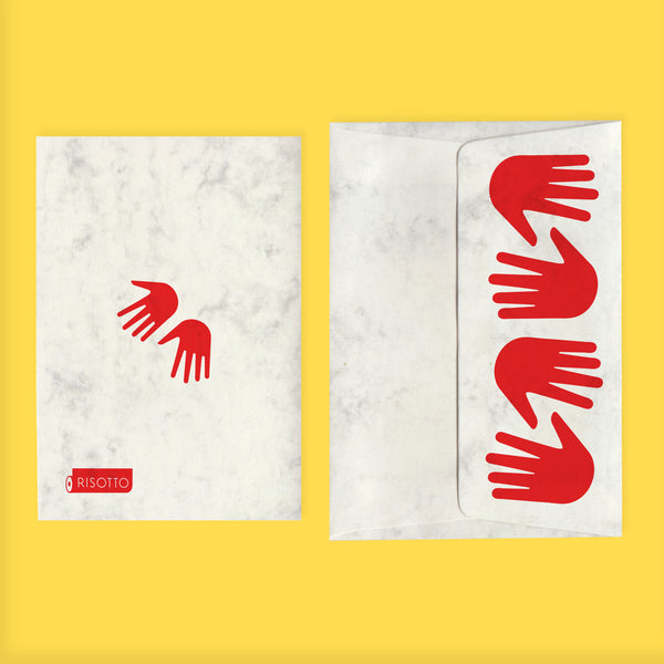 JUMBO HANDS: CARD + ENVELOPE