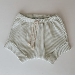 RIBBED SHORTS - MINT