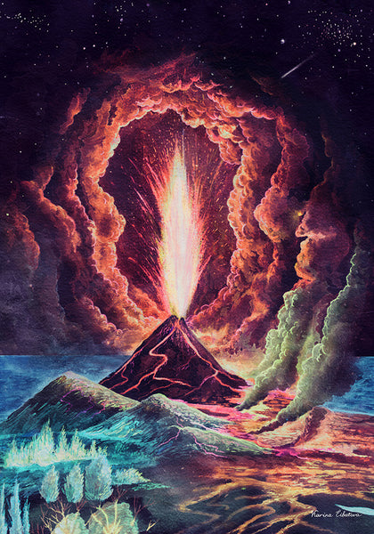 orgasmic volcano - Beautiful, Affordable, Curated Artwork - TheArtBowl.com