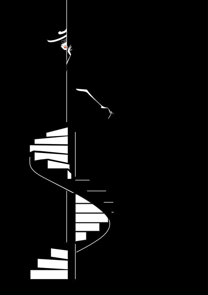 staircase noir - Beautiful, Affordable, Curated Artwork - TheArtBowl.com