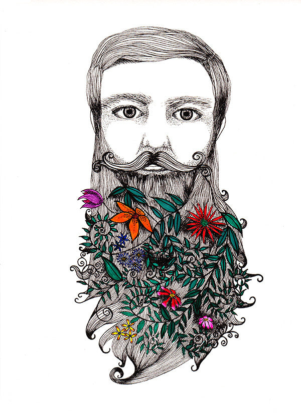 beard garden - Beautiful, Affordable, Curated Artwork - TheArtBowl.com