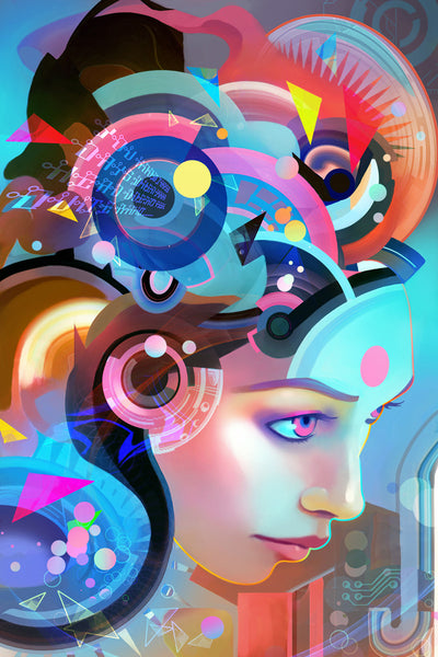 technobabble - Beautiful, Affordable, Curated Artwork - TheArtBowl.com