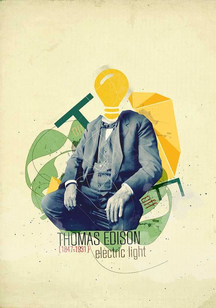 thomas edison - Beautiful, Affordable, Curated Artwork - TheArtBowl.com