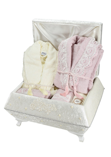 "18 Pcs ""MARGARET""  Bathrobe Set 100% Cotton"