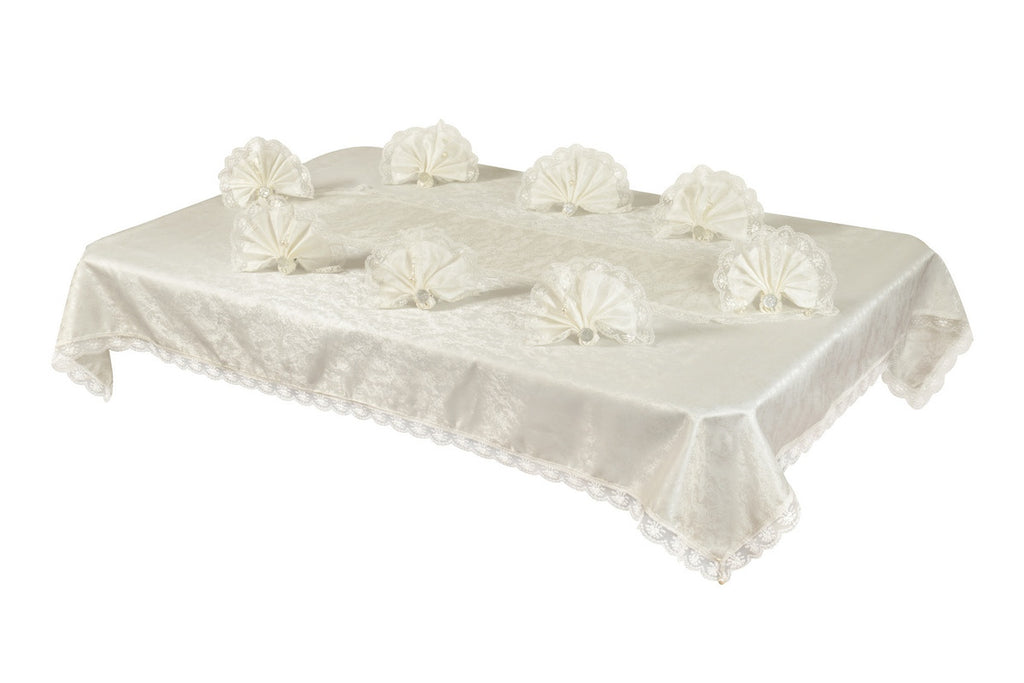 "Sultan Table Cloth Set With White ""Lux"""