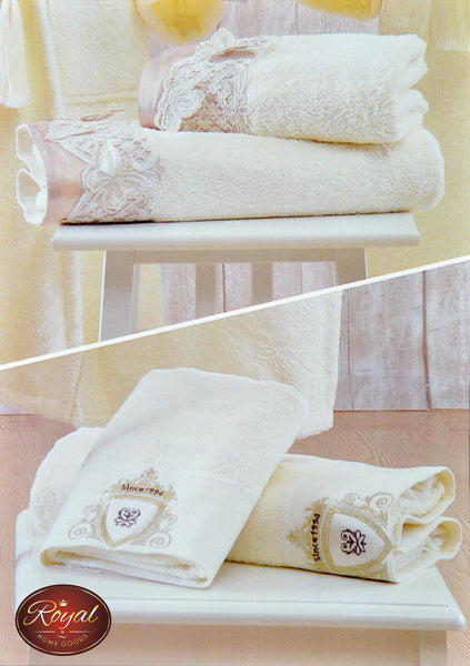 "4 Pcs ""Elfida"" Towel Set 100% Cotton"