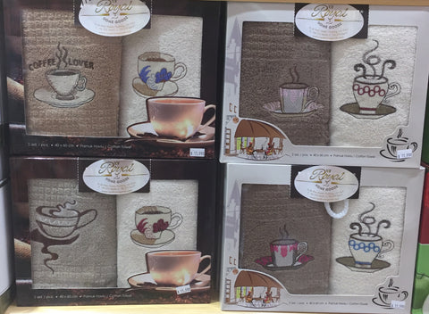 """COFFEE""2Pcs Kitchen Towels Set"