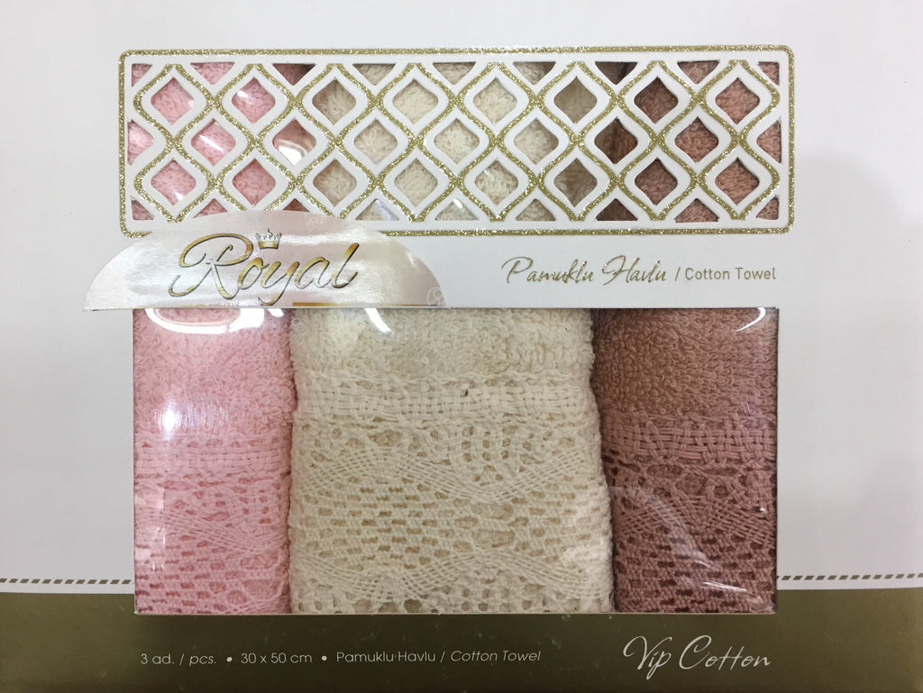 """DANTELLY""3Pcs Kitchen Towels Set"