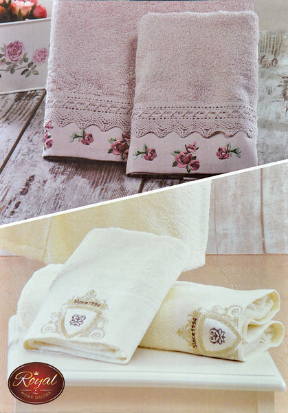 "4 Pcs ""Gulru"" Towel Set 100% Cotton"