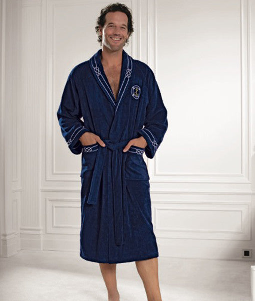 Marine Men's Bathrobe 100% Soft Cotton