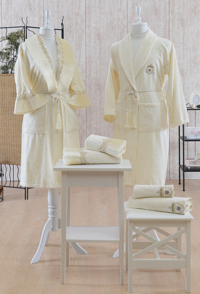 "6 Pcs ""PIANO"" Bathrobe Set 100% Cotton"