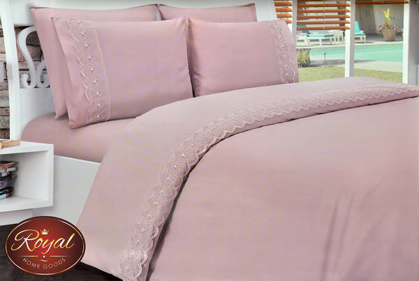 "6 Pcs ""Pique French"" Bed Cover Set (Hand-Made)"