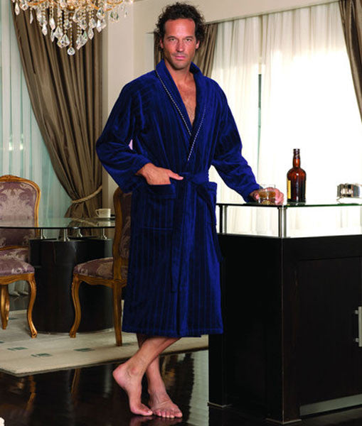Sharp Men's Bathrobe 100% Soft Cotton