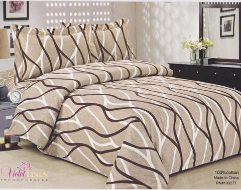"French Soft Brown Swirls 39""Set"