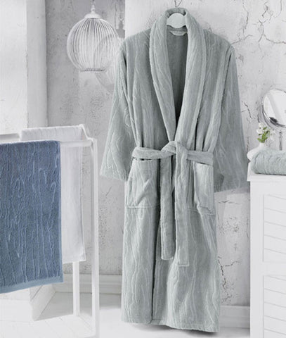 """Sortie"" Men's Bathrobe 100% Soft Cotton"