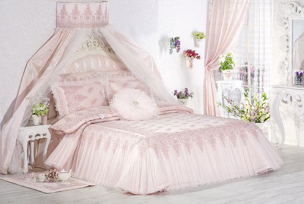 "3 Pcs ""SUMBUL"" Bed Cover Set (Hand-Made)"