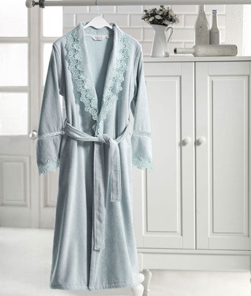 """Victoria"" Bathrobe 100% Soft Cotton"
