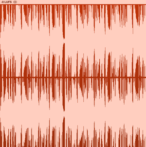 Over compressed audio bounce. -8 LUFS.