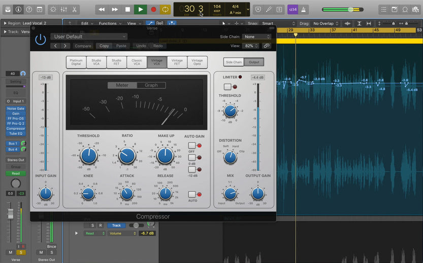 Vocal automation and compression